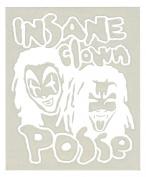 Insane Clown Posse Band Logo Rub-On Sticker WHITE
