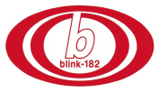 Blink-182 Band Logo Rub-On Sticker RED