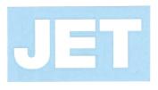 Jet Band Logo Rub-On Sticker WHITE