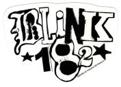 Blink-182 White Logo Sticker