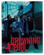 Drowning Pool Group Photo & Logo Sticker
