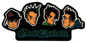 Good Charlotte Cartoon Heads Sticker