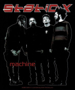 Static-X Band Machine Sticker