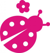 Hot Pink Lady Bug Decal Car Truck Cute Sticker