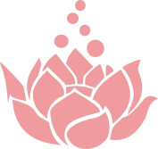 Lotus Flower Decal Sticker Cute for Car Truck Notebook Laptop 13cm Light Pink