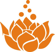 Lotus Flower Decal Sticker Cute for Car Truck Notebook Laptop 13cm Orange