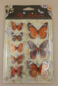 Kandytoys 3d Red Beautiful Butterfly Stickers -scrapbooks, Arts And Crafts, Home Decor