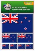 New Zealand Country Flag Set of 7 Different Size Collection Decal Stickers ... New in Package