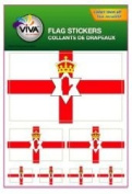 Northern Ireland Country Flag Set of 7 Different Size Collection Decal Stickers ... New in Package