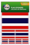 Thailand Country Flag Set of 7 Different Size Collection Decal Stickers ... New in Package