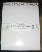 Geographics GeoPaper 2-Up Invitations with envelopes, Silver Swirl Foil, 65 lb, 22cm x 14cm , 12 Count