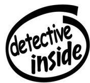 Detective Inside Vinyl Graphic Sticker Decal