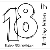 Woodware Clear Stamps 8.9cm x 8.9cm -18th Birthday