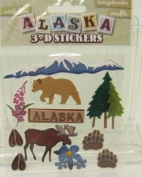 Alaska Dimensional Scrapbook Stickers