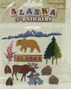Alaska Dimensional Scrapbook Stickers