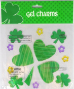 Green Shamrocks St. Patrick's Day Gel Window Clings