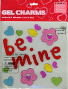 Be Mine Cupcakes & Hearts Valentine's Day Gel Window Clings