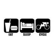 Eat Sleep Cycle Vinyl Graphic Sticker Decal cycling cyclist