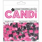 Candi Dot Printed Embellishments .1040ml-Raspberry Truffle