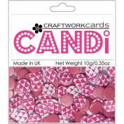 Candi Dot Printed Embellishments .1040ml-Lipstick Pink