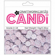 Candi Dot Printed Embellishments .1040ml-Candy Floss
