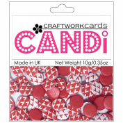 Candi Dot Printed Embellishments .1040ml-Cherry Red