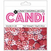 Candi Dot Printed Embellishments .1040ml-Cherry Red