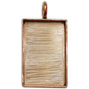 Designer's Extra Long Rectangle Base 32x23mm 1/Pkg-Copper