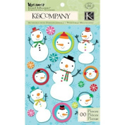 Very Merry Snowman Scrapbook Grand Adhesions
