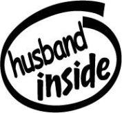 Husband Inside Vinyl Graphic Sticker Decal