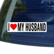 I Love Heart My Husband Window Bumper Sticker