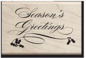 Season's Greetings Wood Stamp