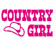 Country Girl Cowboy Hat Vinyl Decal Sticker in 15cm wide
