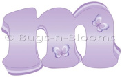 Lavender Purple Butterfly Alphabet Letter Initial Wall Sticker Vinyl Stickers Decal Letters for Children's Nursery & Baby's Room Decor Baby Name Wall Letters Girls Bedroom Wall Letter Decorations Child's Names. Butterflies Mural Walls Decals Baby Shower