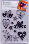 Scribbles Hearts and Stars