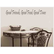 Toprate(TM) Good Friend Good Food Good Time-Wall Decal For Nursery-Home Decor-Wall Sticker Decal,Wall Art-Wall Decor Wall Sayings-Famous Quotes