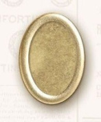K & Company Lifes Journey Metal Art Frame Ups-Oval Brass