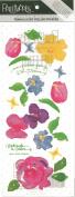 Aunt Jenny's Garden Vellum Scrapbook Stickers