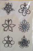 Flower Buds Metal Lil' Charms for Scrapbooking