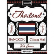 Discover Thailand Cardstock Scrapbook Stickers