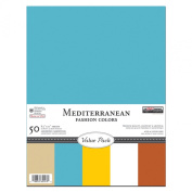The Paper Company, P62543, Mediterranean Cardstock Value Pack, 8-1/2 by 11