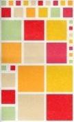 Warm Colour Blocks Vellum Scrapbook Stickers
