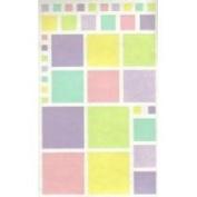 Pastel Colour Blocks Vellum Scrapbook Stickers