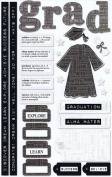 Graduation Collection Cardstock Stickers for Scrapbooking