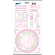 Bundle of Joy Girl Cardstock Scrapbook Stickers