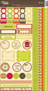 Chicken Noodle Cardstock Stickers 6x12 Sheet: