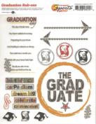 Graduation Academics Rub-Ons for Scrapbooking