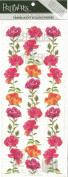 Borders of Roses Vellum Scrapbook Stickers