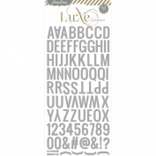 Luxe Glitter Alphabet Sticker-Silver