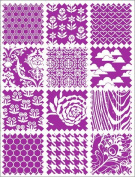 Magenta Purple Remnants Rub-Ons by Hambly